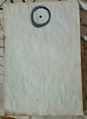 Stained Paper Sun Sign Symbol Watercolour Sigil Journal Grimoire Spellbook
