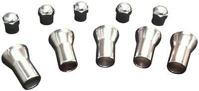 16 CHROME WHEEL VALVE TYRE DUST CAPS & 20mm STEM COVERS