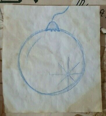 Stained Paper Witch Ball Symbol Watercolour Sigil Journal Grimoire Spellbook