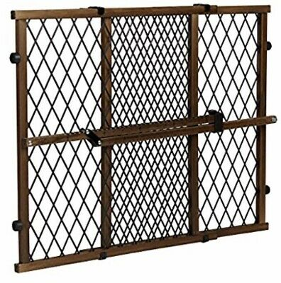 Evenflo Baby gate Position and Lock Farmhouse Pressure Mount  Dark Wood  New