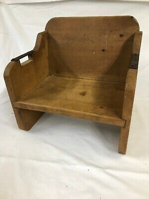 Vintage Childs Baby Toddler Wooden Booster Seat High Chair Hand Crafted