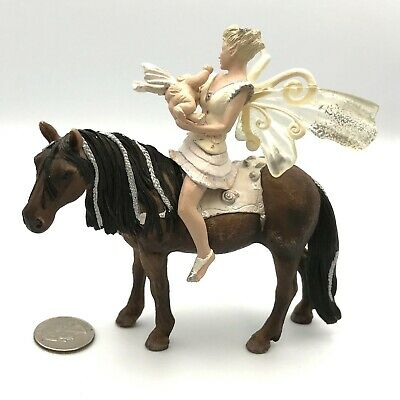 Schleich Gabriella with Horse Figure Toy Figure 70558 New 2018 Bayala