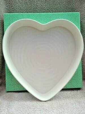 """Sophie Conran for Portmeirion Heart Dish, 11""""x10"""", White, 1st Quality New Boxed"""