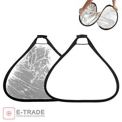2in1 Photo Collapsible Light Reflector Reflecting plate triangle SILVER / WHITE