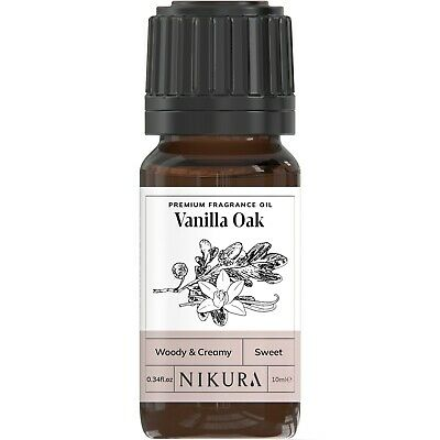 Vanilla Oak Premium Fragrance Oil - 10ml, 50ml, 100ml, Nikura