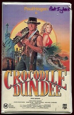 Crocodile Dundee VHS 1980s Comedy CBS Fox Home Video PAL Paul Hogan