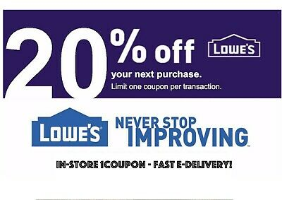 Lowes 10% Off 1Coupon - In-Store Only - Fast-E-Delivery