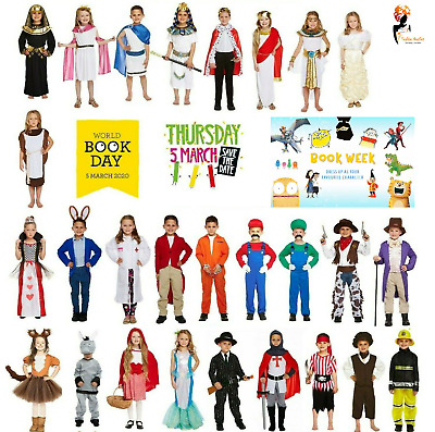 BOOK WEEK COSTUMES GIRLS BOYS CHARACTERS Book Day Fancy Dress Animal Historic UK
