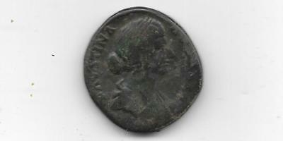 Ancient Roman Coin - Faustina Junior - Ae Sestertius - Free Shipping (Anc 853)