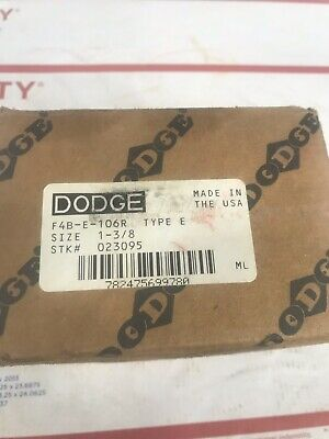 "Dodge 023002 Type E-XTRA 1-3//8/"" Shaft P2B-E-106R Pillow Block Bearing"
