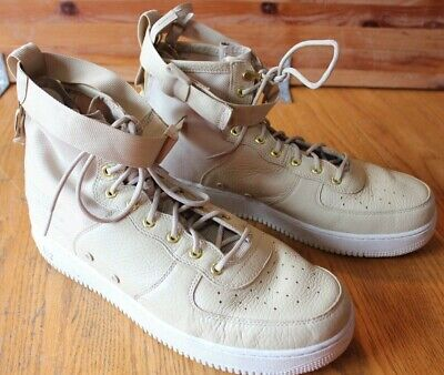 Nike AF-1 Urban Utility Goddess of Victory Leather High Tops Tan Beige Size 14
