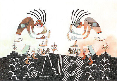 12 Native American Kokopelli Greeting Cards by Robert Montoya