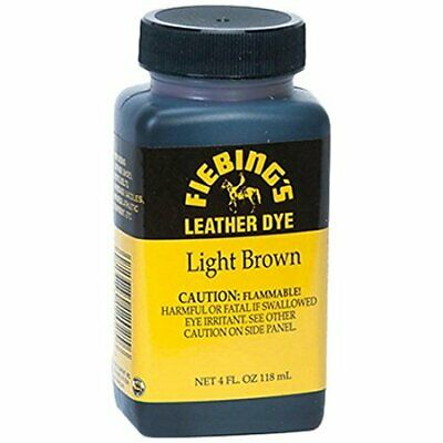 New FIEBINGS Light Brown Leather Dye 4 oz. with Applicator for Shoes Boots Bags