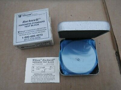 NEW Wilson Rockwell Hardness Standard Test Block Scale C 45.0 HR NOS Inspection