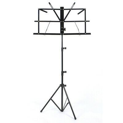 Music Note Stand Sheet Music Holder Lightweight Adjustable Foldable + Carry Bag