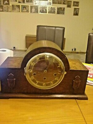 1920/30s antique mantel clock double chime whittington and westminster working
