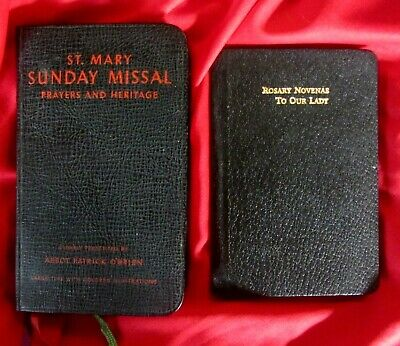 St. Mary Sunday Missal (1952) & Rosary Novenas To Our Lady (1925)--Exc. Cond.