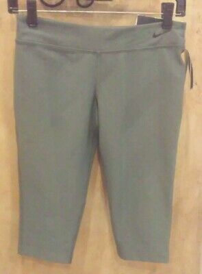 NWT, Nike Youth Girls Gray Legend Tight Fit Capri Leggings Pants Dri Fit Large