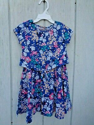 Old Navy Dress size 5T 5 Girls Clothes Floral Pink Yellow Green