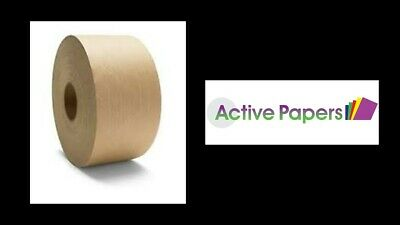 Reinforced Parcel Tape Brown Water Activated Gum Strong Bond 70mm x 100M Roll