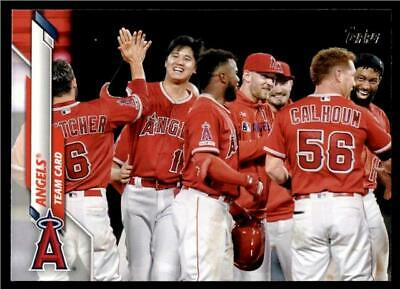 2020 Topps Series 1 Base #19 Angels - Team Card
