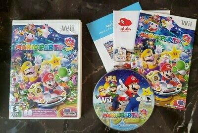 Mario Party 9 -- Ninteno Wii -- WILL NOT PLAY -- SOLD AS IS