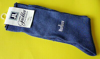 JL KOBES JACKLER® Marlboro Original Men's Leg Knit Socks Mid-blue ~ New on Card
