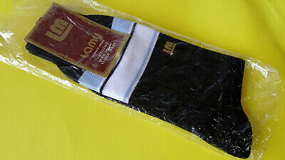 Vintage ~ LM ~ LAMY Fine Knit Socks Black, Sky Blue, White ~ New in Pack