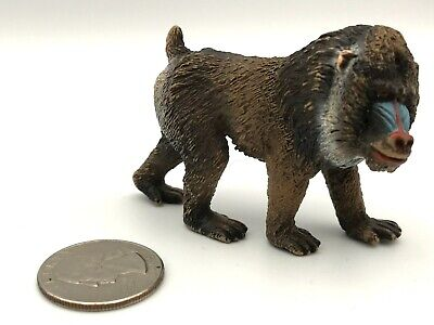 2013 SCHLEICH Animal Figure MANDRILL Female With BABY 14716 RETIRED New w//o Tag