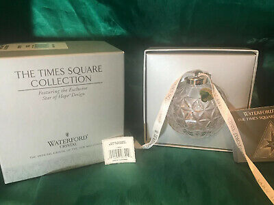Waterford Crystal Times Square Star Of Hope Design Ball Christmas Ornament 2000