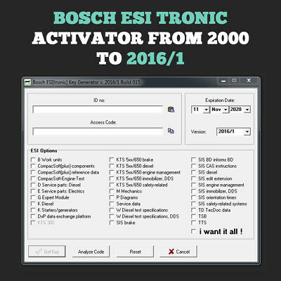 Bosch ESI[tronic] activator from 2000 to 2016/1