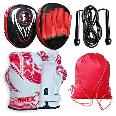 Focus Pad Boxing Gloves Hook & Jabs Mitts Punch Bag Gym Training MMA Muay Thai