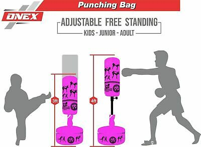 Kids Boxing Junior Heavy Duty Kick Freestanding Punching  MMA Gym Martial Arts