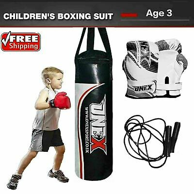 ONEX Punch Bag Filled Heavy Boxing Punching Gloves MMA Muay Thai Training Set