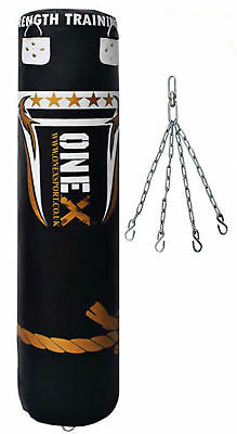 5Ft Punching Bag Boxing Heavy Filled MMA Martial Arts Boxing Kicking Bag Chain