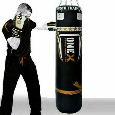 Punch Bag Heavy Duty Filled Chain Hanging Boxing bag Kick Bag MMA Training