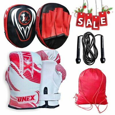Focus Pad Muay Thai Boxing Hit Punching Mitts Training for MMA Karate Gloves