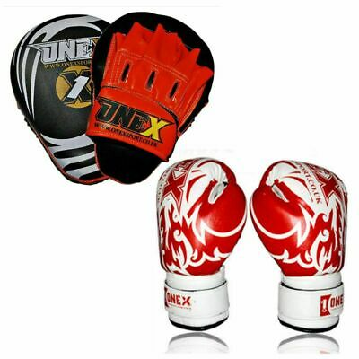 Focus Mitts Rex Leather Junior/Kids Training Gym Exercise Muay Thai Punch Pads