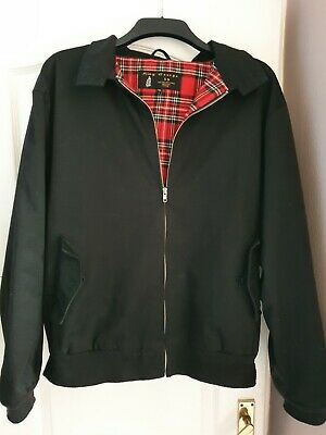 King George 59 Classic Harrington Jacket Mod Skin Ska Rockabilly Black Xl