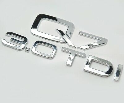 Silver Chrome Q7 3.0 TDI Car Badge Emblem Numbers Letters For Audi Q7 Models