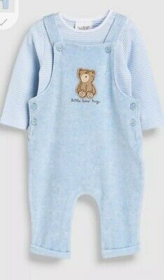 Next Baby Boy Blue Dungaree Outfit 2 Piece Set Bnwt New With Tags First Size