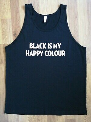 Black is my Happy Colour Black Goth Hipster Moody Sweatshirt Many Sizes