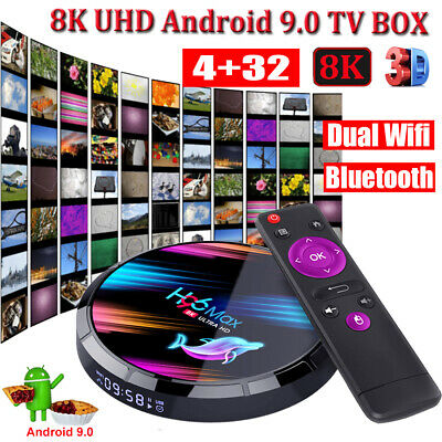 H96 MAX X3 8K 3D 4+32G Android 9.0 Pie 5.0 WLAN BT Quad Core TV BOX 64Bit H.265