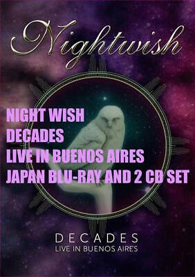 Night Wish Decades Live In Buenos Aires  Japan Blu-Ray And 2 Cd Set
