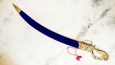 Handcrafted Indian Rajput wedding sword with sheath  Golden lion face hilt