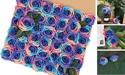 HOHOTIME Artificial Flowers 42PCS, 3.2 Inches Real Touch Roses, Foam Unicorn