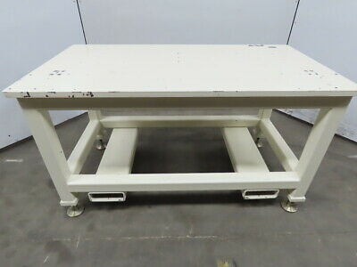 "1"" Blanchard Ground Steel Fabrication Layout Welding Table Machine Base 58""x31"""