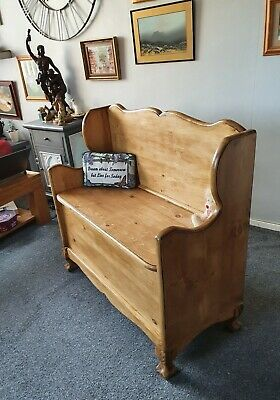 hand crafted solid pine monks bench/settle/pew