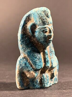 Extremely Rare Ancient Egyptian Pharaonic Bust- Stunning Detail Circa 900-600Bce