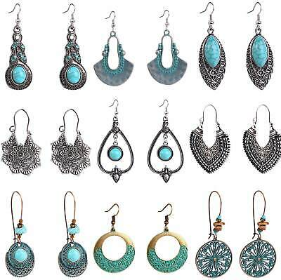 Womens Hook Earrings Drop Dangle Jewellery Ear Gift 925 Sterling Silver Plated